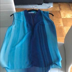 T Tahari Blue Ombré blouse